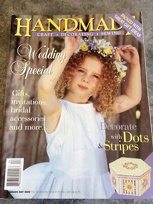 HANDMADE  MAGAZINE  VOL16 No 4 May 2000 Wedding Special PATTERN SHEETS ATTACHED