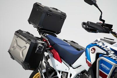 SW Motech Trax ADV Panniers & Top Box Kit - Black - Honda Africa Twin ADV Sport