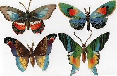 1800's Victorian - Gorgeous Butterfly Diecut Lot - Selling Lot Of Cards