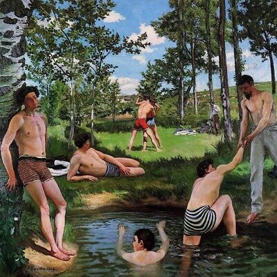 BATHERS by Frederic Bazille - Matt, Glossy, Canvas Paper A4 or A3