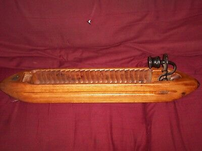 """Vintage 24"""" Long Wood Weaving Loom Shuttle - Could Maybe Be Turned into a Ship?"""