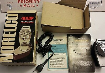Norelco 40 VIP TripleHeader Vintage Shaver In Box