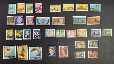 Papua New Guinea lot of 10 different VF MNH complete sets (k419)