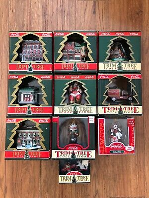 New Nib Lot Of 10 Collectible Coca~Cola Coke Trim*a*tree Ornaments