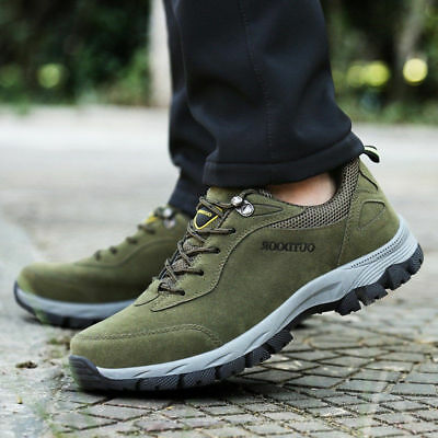 Outdoor Anti-slip Trekking Trainers Hiking Low Top Sneakers Men's Lace Up Shoes