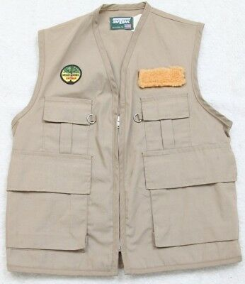 Saftrax Fly Fishing Men's Beige Vest Small Machine Washable Polyester Cotton Top