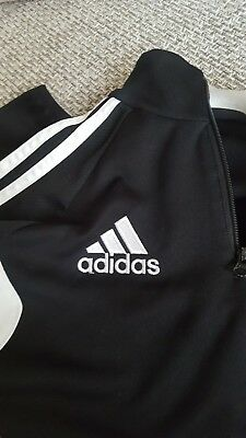 BOYS / BLACK / ADIDAS CLIMACOOL / TRACKSUIT TOP / jumper /- AGE XL YOUTH (12/13)