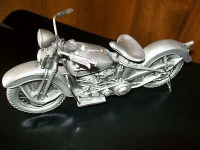 Harley-Davidson Knucklehead Motorcycle Decor - Depicts 1930's H-D