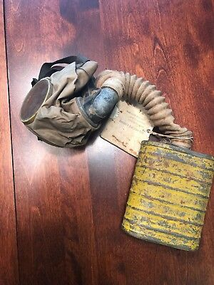 WWI U. S. Army Gas Mask in Canvas Bag with Instructions.