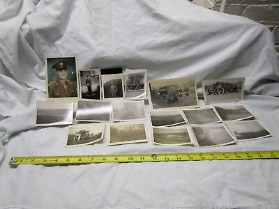 W.W. II Photo Album Photographs  Abbott and Costello USO Jeeps Planes