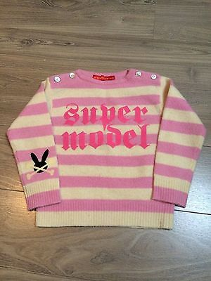 Girl - No Added Sugar - Pink Striped / Supermodel Lambswool Jumper 1 - 2 Years
