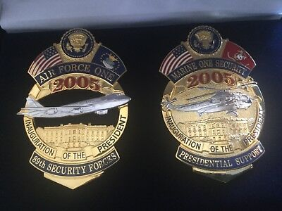2005  Inauguration of the President Badges - Air Force One & Marine One Security