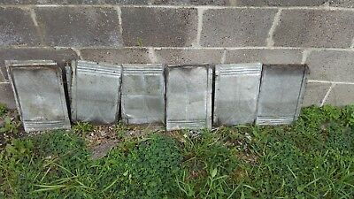 100 Vintage tin Barn Roof Shingle Tile, 9x14 in