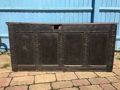 BELIEVED 18TH CENTURY OAK COFFER - Would Benefit From Restoration