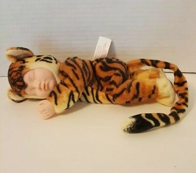 "ANNE GEDDES BABY TIGER PLUSH DOLL 14"" (Head to Tip of Tail) Vintage 2000 L@@K"