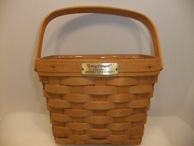 Longaberger 1997 Dresden Tour Basket with Protector