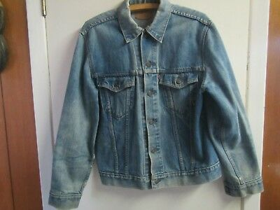 Vintage Levi Strauss Co. Levis Red Tag Men's L Size Large Blue Denim Jean Jacket