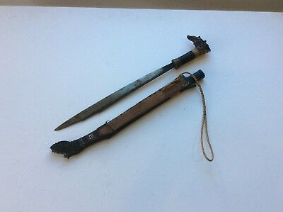 Nice Old Antique Dayak Dyak Borneo Mandau Sword No Keris Kris Dagger For A Child