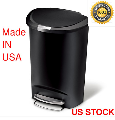 Simplehuman 50 Liter/13 Gallon Semi-Round Kitchen Step Trash Can LARGE CAPACITY