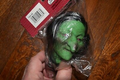 NOS Halloween FIBRE CRAFT Witch Head GREEN for Doll Craft #7505 – 5 Available