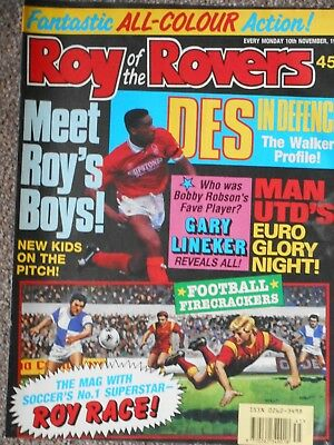Roy Of The Rovers 10th November 1990