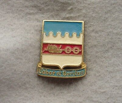 US Army 851st Engineer Bn pin DI DUI CREST CB Lauer HMk  Painted (x0034)