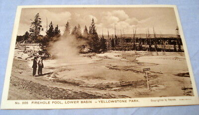 Antique Postcard Yellowstone Park Haynes Photo #505 Firehole Pool Lower Basin