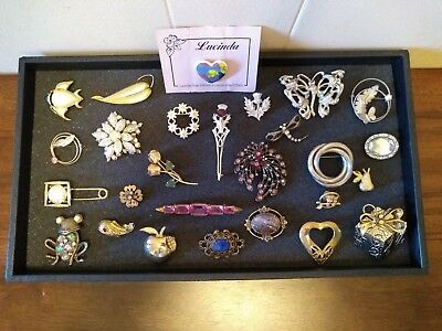27 Pc Vintage & Modern Brooch/Pin Collection