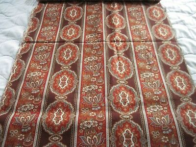 Antique Vintage 1800's Victorian Fabric Cocheco Lawrence & Co. 2 yds with label
