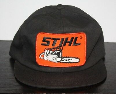 bda93d9e Vintage Stihl Chainsaw K-Products Patch Snapback Hat Cap Made in USA Black  USA