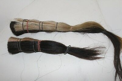 2 Horse hair bundles,     Over 1.25 lb. ,    x2b80 ............