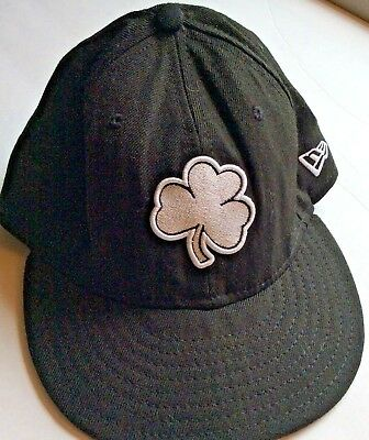 5d2709e7bd557 ... italy university of notre dame fighting irish hat black wool shamrock  new era size 7 5c97e ...