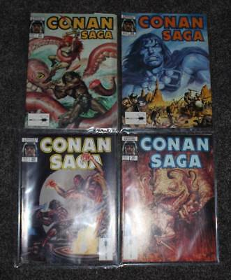 Lot Of Four (4) 1989 Conan Saga Marvel Magazine
