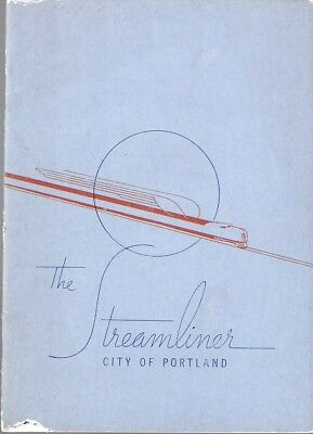 "BOOKLET - the Streamliner  ""City of Portland""   1941"