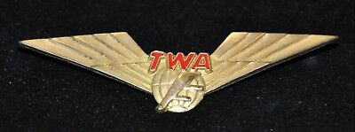 Vintage TWA 1/20 10K Blackinton Gold Filled Wing Pin Crew Trans World Airlines