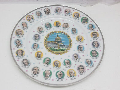 "DC Capitol Building 36 Presidents Collector Collectible Commemorative 10"" Plate"