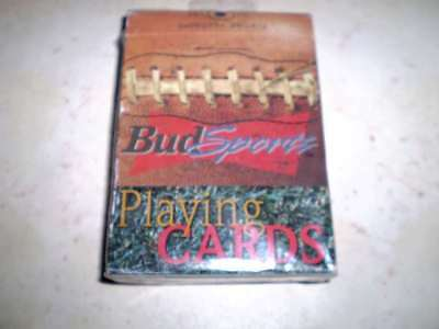 Pack of older beer playing cards  - Bud  Sports