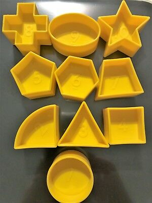 Tupperware Shape O Ball Sorter Toy FULL SET of Replacement Pieces LOT of 10