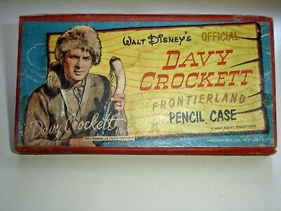 "Walt Disney""s Official  Davy Crockett Frontierland Pencil Case"