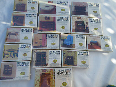 Vintage Dollhouse Furniture The House Of Miniatures New Lot 17 Kits Toy1