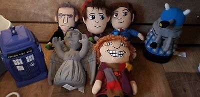 Doctor Who Plush Figures 4,10,11,12th Doctors Weeping Angel, Dalek And Tardis