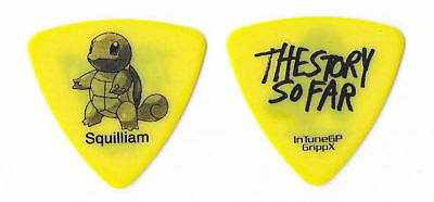 The Story So Far black on yellow Guitar Pick