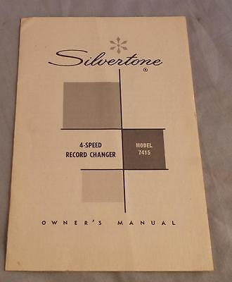 Silvertone 4-Speed Record Changer Model 7415 Owner's Manual