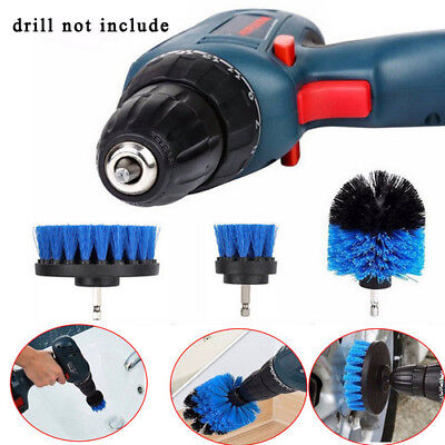 3X/Set Electric Tile Tire Power Scrubber Cleaning Drill Brush Tub Cleaner Combo