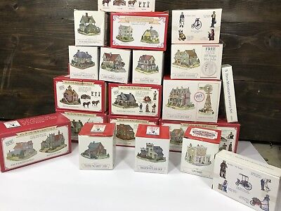 Lot of 20 Liberty Falls Christmas Miniature Buildings Houses w/ boxes
