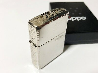 ZIPPO 2013 ARMOR Limited Edition Sides-Etched Engraved Lighter Silver No.4865