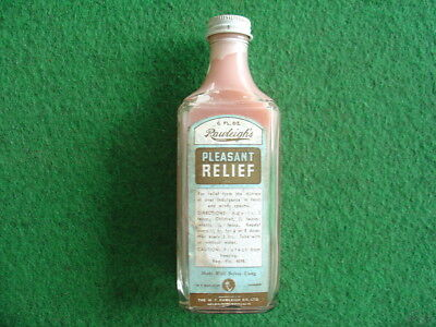 Vintage 60's Rawleigh's pleasant relief bottle/grocery/retro/chemist