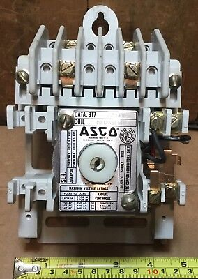 ASCO 917-22031C 20 AMP POLE LIGHTING CONTACTOR w/ 110/120 VAC COIL