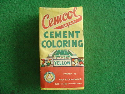 Vintage 50's unopened Cemcol cement color pack/grocery/retro/hardware