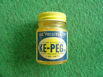 Vintage 60's Ke-peg egg preserver small jar/grocery/retro